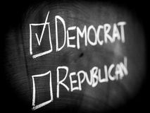Democrat-Sieg in der Wahl Lizenzfreie Stockfotos