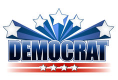 Democrat sign Stock Photography
