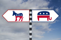 Democrat vs Republican concept Royalty Free Stock Photography