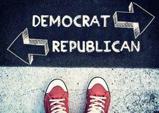 Democrat y republicano foto de archivo libre de regalías