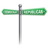 Democrate Versus Republican Theme Stock Photography