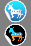 Democratic Party Stickers Stock Photos