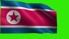 Democratic People's Republic of Korea, Flag of North Korea - LOOP Royalty Free Stock Photography