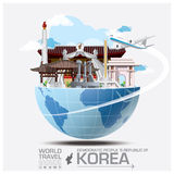 Democratic People 's Republic Of Landmark Global Travel And Jour. Ney Infographic Vector Design Template Royalty Free Stock Photo