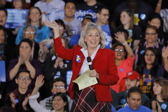 Democratic Presidential Candidate Hillary Clinton Campaigns In Las Vegas, Nevada Stock Photos