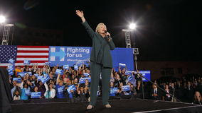 Democratic Presidential Candidate Hillary Clinton Campaigns In Las Vegas, Nevada Stock Image