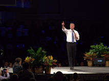 Democratic presidential hopeful Martin O'Malley speaks in Des Moines, Iowa Stock Photography
