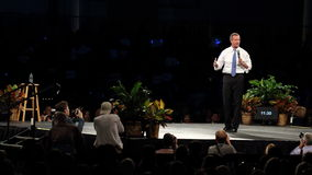 Democratic presidential hopeful Martin O'Malley speaks in Des Moines, Iowa Royalty Free Stock Photography