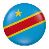 Democratic Republic of Congo button on white background Royalty Free Stock Photography