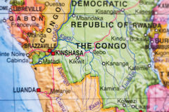 Democratic Republic of the Congo country map . Stock Photography