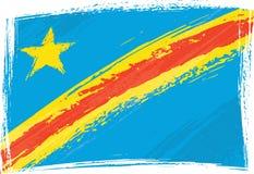Democratic Republic of the Congo flag. Democratic Republic of the Congo national flag created in grunge style Royalty Free Stock Photo