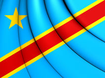 Democratic Republic of the Congo Flag Royalty Free Stock Image