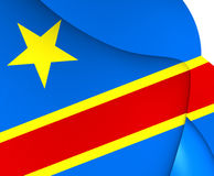 Democratic Republic of the Congo Flag Royalty Free Stock Photography