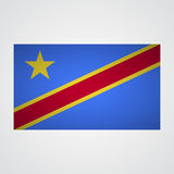 Democratic Republic of Congo flag on a gray background. Vector illustration Royalty Free Stock Photography