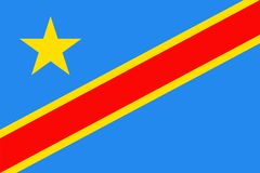 Democratic Republic of the Congo Flag Vector Flat Icon. Democratic Republic of the Congo Flag Vector Icon - Illustration Stock Photography