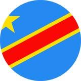 Democratic Republic of the Congo Flag Vector Round Flat Icon. Illustration Stock Photography
