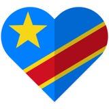 Democratic Republic of Congo flat heart flag Stock Photography