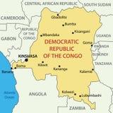 Democratic Republic of the Congo - map - vector Stock Image