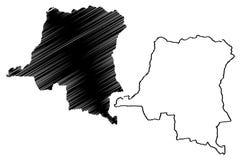 Democratic Republic of Congo map vector Royalty Free Stock Images