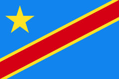 Democratic Republic of the Congo national current flag Stock Images