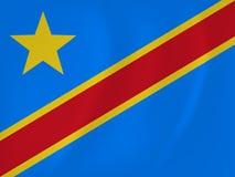 Democratic Republic of Congo waving flag Stock Photo