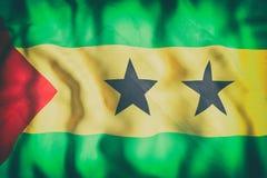 Democratic Republic of Sao Tome and Principe flag waving Stock Photography