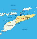 Democratic Republic of Timor-Leste - East Timor - vector map Royalty Free Stock Photography