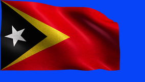 Democratic Republic of Timor-Leste Flag of Timor Leste / East Timor - LOOP Stock Image