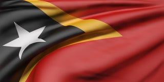 Democratic Republic of Timor-Leste flag waving Stock Photo