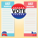 Democratic and Republican Party Royalty Free Stock Photography