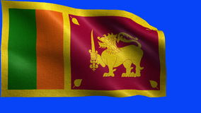 Democratic Socialist Republic of Sri Lanka, Flag of Sri Lanka - LOOP Stock Image
