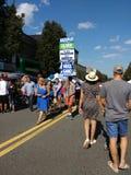 Democratici alla via giusta, Rutherford, NJ, U.S.A. di festa del lavoro Immagini Stock Libere da Diritti