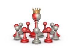 Democratie (schaakmetafoor) Stock Foto