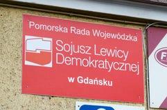 Democratisch Linkeralliance Pools: Sojusz Lewicy Demokratycznej, SLD-bureau royalty-vrije stock foto's