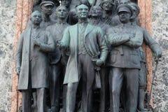 Democratisch Monument, close-upmening, Taskim-vierkant, Istanboel, Turkije royalty-vrije stock foto