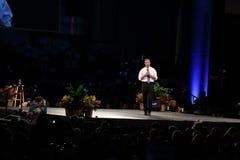 Democratisch presidentieel hoopvol Martin O'Malley spreekt in Des Moines, Iowa stock afbeelding