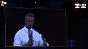Democratisch presidentieel hoopvol Martin O'Malley spreekt in Des Moines, Iowa stock foto