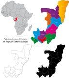 Democratische Republiek van de kaart van de Kongo Royalty-vrije Stock Fotografie