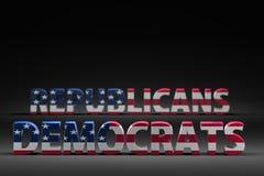 Democrats contre des républicains illustration de vecteur