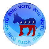 2016 Democrats elections button. 2016 Democratic party elections button isolated on white royalty free illustration