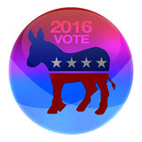2016 Democrats elections button. 2016 Democratic party elections button isolated on white vector illustration