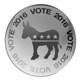 2016 Democrats elections button. 2016 Democratic party elections button isolated on white stock illustration