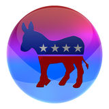 Democrats elections button. Democratic party elections button isolated on white vector illustration