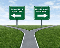 Democrats and Republicans election choices Stock Photos