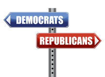 Democrats and Republicans election choices Royalty Free Stock Images