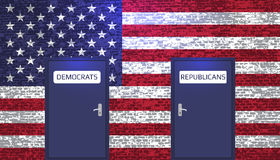 Democrats and Republicans Royalty Free Stock Image