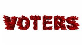 Democrazia Demo Groups Word di elezione della gente degli elettori Fotografia Stock Libera da Diritti