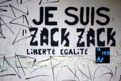 Democrazia politica francese di slogan fotografia stock libera da diritti