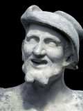 Democritus sculpture on a black background Royalty Free Stock Photo