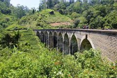 Demodara Nine Arch Bridge. Ella, Sri Lanka Royalty Free Stock Photo